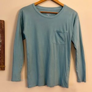 <J. Crew> Garment-Dyed Long Sleeve Pocket T-shirt